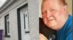 The body of Paul Jones (inset) was found at his home in Bandon