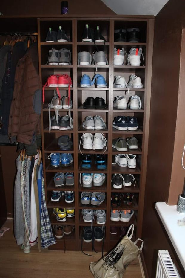 44 pairs of runners were found in the house