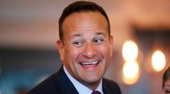 Taoiseach Leo Varadkar at the FG think-in yesterday. Photo: Niall Carson/PA Wire