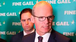 Speaking at a gathering of Fine Gael in Cork, Mr Coveney said he was 'convinced the prime minister wants to get a deal' even though significant gaps remain. Photo: Niall Carson/PA Wire
