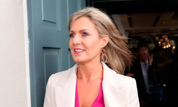 TD Maria Bailey leaves the Fine Gael parliamentary meeting in Cork yesterday. Photo: Niall Carson/PA Wire