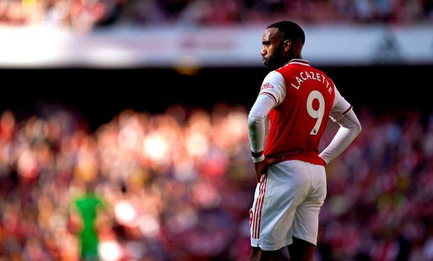 Arsenal striker Alexandre Lacazette will be out until October due to an ankle injury, the club have announced. See PA story SOCCER Arsenal. Photo credit should read John Walton/PA Wire.