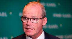Tanaiste Simon Coveney during the Fine Gael parliamentary meeting at the Garryvoe Hotel in Cork Photo credit: Niall Carson/PA Wire