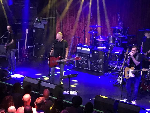 Peter Hook and The Light on stage at The Academy