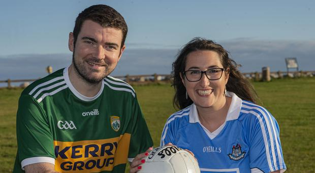 Brendan Griffin and Emer Higgins show their colours