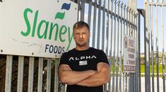 Struggle: Jurijs Belousovs works in the abattoir at Slaney Foods, Bunclody, Co Wexford, but has now been laid off. Photo: Mary Browne