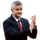 Fans sang Ole Gunnar Solskjaer's name at end. Photo: Martin Rickett/PA Wire