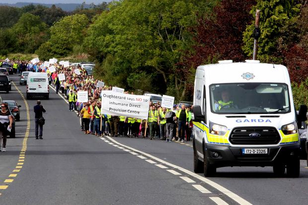 MARCH: More than 1,500 people participated in a silent demonstration to highlight their objection to a direct provision centre in Co Galway