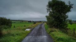 A road runs across the Border between Donegal and Derry. Picture: Getty