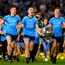 Dublin players John Small, Brian Fenton and Ciarán Kilkenny celebrate after the match. Photo: Eóin Noonan/Sportsfile