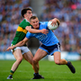 Ciarán Kilkenny of Dublin in action against Brian Ó Beaglaoich of Kerry during the GAA Football All-Ireland Senior Championship Final Replay match between Dublin and Kerry at Croke Park in Dublin. Photo by Eóin Noonan/Sportsfile