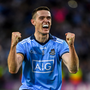 Brian Fenton of Dublin celebrates at the final whistle of the GAA Football All-Ireland Senior Championship Final Replay match between Dublin and Kerry at Croke Park in Dublin. Photo by Ray McManus/Sportsfile