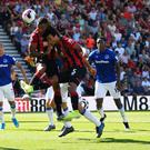 Callum Wilson scores Bournemouth's first goal in the Premier League win over Everton. Photo: Reuters/Dylan Martinez