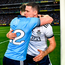 Dublin's Philly McMahon and captain Stephen Cluxton celebrate after beating Kerry to win their fifth successive All-Ireland SFC title at Croke Park on Satuirday evening. Photo: Ray McManus/Sportsfile