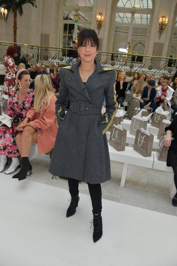 Imelda May attends the Paul Costelloe front row during London Fashion Week September 2019 at The Waldorf Hilton Hotel on September 16, 2019 in London, England. (Photo by David M. Benett/Dave Benett/Getty Images)