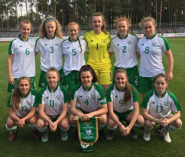 The Ireland U17s side that beat Greece 5-0 in Lithuania on Monday