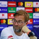 Liverpool manager Jurgen Klopp during the press conference. Action Images via Reuters/Andrew Couldridge