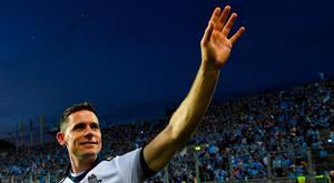 Dublin captain Stephen Cluxton waves to the crowd after the GAA Football All-Ireland Senior Championship Final Replay between Dublin and Kerry at Croke Park in Dublin. Photo by Piaras Ó Mídheach/Sportsfile