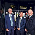 Meath's Colm O'Rourke, 'Ogie' Moran of Kerry and Cork's Larry Tompkins at the GAA Museum in Croke Park yesterday after they were inducted into the Hall of Fame. Photo: David Fitzgerald/Sportsfile