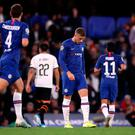 Chelsea's Ross Barkley reacts after missing a late penalty during the Champions League Group H defeat to Valencia at Stamford Bridge, London. Photo: Nick Potts/PA Wire