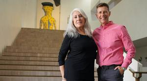 House proud: Judith Nielson and Dermot Bannon in Incredible Homes
