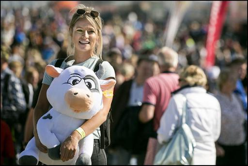 Field day: Tara O'Haire from Longford at the Ploughing in Fenagh, Co Carlow. Picture: David Conachy