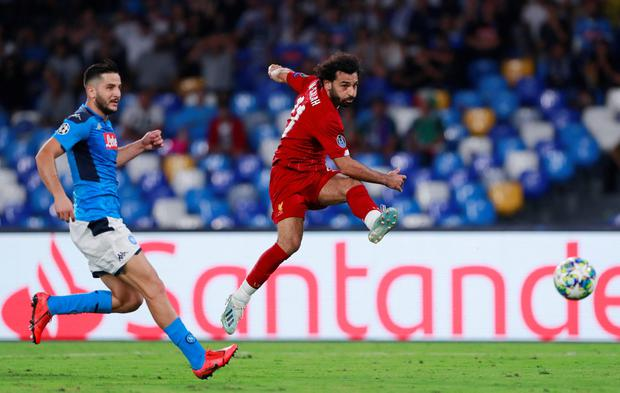 Liverpool's Mohamed Salah misses a chance to score. Photo: Action Images via Reuters/Andrew Couldridge