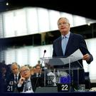 European Union's chief Brexit negotiator Michel Barnier addresses the plenary of the European Parliament on Britain's withdrawal from the European Union during a debate on Brexit at the European Parliament. Picture: REUTERS/Vincent Kessler