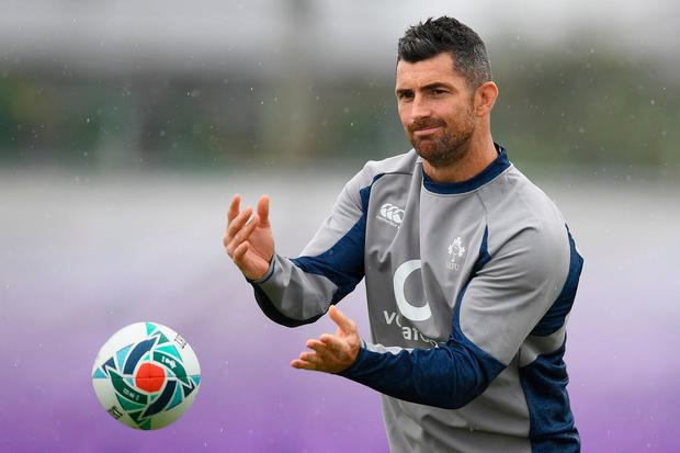 Ireland's full back Rob Kearney takes part in a training session at the Ichihara Suporeka Park in Ichihara on September 18, 2019, ahead of the Japan 2019 Rugby World Cup. (Photo by CHARLY TRIBALLEAU / AFP)CHARLY TRIBALLEAU/AFP/Getty Images