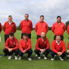 Confident: The Roscommon team for the Final of the AIG Jimmy Bruen Shield. Photo: Thos Caffrey / www.golffile.ie