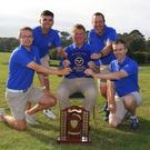 Success: Munster champions Limerick, (l-r) Juan Fitzgerald (Team Captain) Owen O'Brien, Ciaran Vaughan, Michael Reddan and Justin Kehoe. Photo: Thos Caffrey / www.golffile.ie