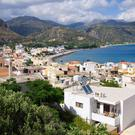 Idyllic: A view of the small, beautiful Crete town of Paleochora where locals cherish the kind of life it offers