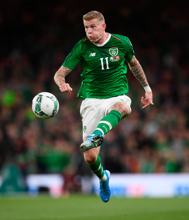 Stoke City and Ireland winger James McClean got apology. Picture: Sportsfile