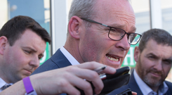 Tánaiste Simon Coveney wants farmers to end pickets. Picture: Mark Condren