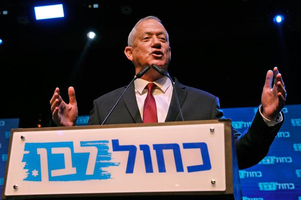 Count: Benny Gantz's Blue and White party will come second. Photo: AFP/Getty Images