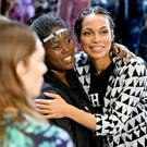 Rosario Dawson greets the audience on the runway for Studio 189 during New York Fashion Week: The Shows at Gallery I at Spring Studios on September 10, 2019 in New York City. (Photo by Mike Coppola/Getty Images for NYFW: The Shows)