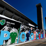 19 September 2019; The teams in Pool A, including Ireland, Scotland, Japan, Russia and Samoa are seen on an advertistment outside The International Stadium Yokohama ahead of the Rugby World Cup. The stadium will host 7 Rugby World Cup games, including the Final on 2nd November. Photo by Ramsey Cardy/Sportsfile