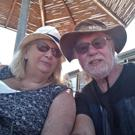 Sonja and Paul Brain as they pose for a selfie on holiday. Paul Brain/Handout via REUTERS. S