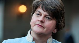 Arlene Foster: DUP leader was upbeat on visit to Dublin this week. Picture: PA