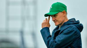 Head coach Joe Schmidt during Ireland Rugby squad training at the Ichihara Suporeku Park in Ichihara, Japan. Photo by Brendan Moran/Sportsfile