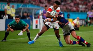 Japan's wing Kotaro Matsushima has two tries to his name