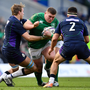 Tadhg Furlong on the charge against Scotland in the Six Nations last February. Photo by Ramsey Cardy/Sportsfile