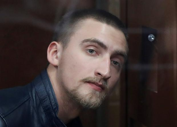 Released: Pavel Ustinov was accused of using violence against a police officer. Photo: Reuters/Evgenia Novozhenina/File Photo