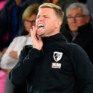 Eddie Howe: Up to third. Photo: Getty Images