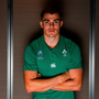 20 September 2019; Garry Ringrose poses for a portrait during the Ireland Rugby squad announcement, ahead of their opening Pool A game against Scotland, at the Yokohama Bay Sheraton Hotel and Towers in Yokohama, Japan. Photo by Brendan Moran/Sportsfile