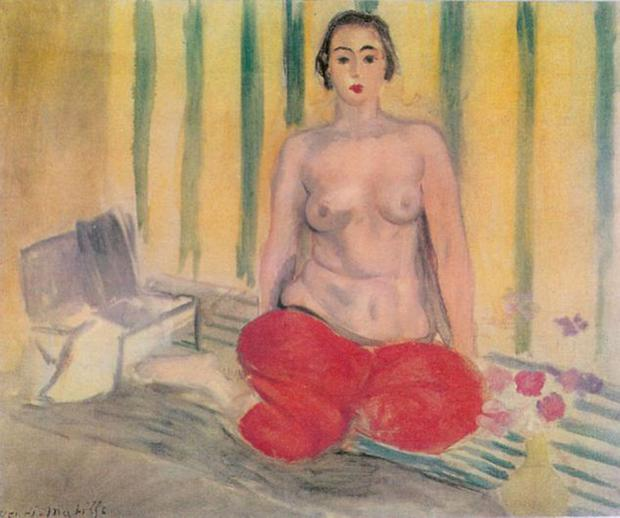 Mystery: Odalisque in Red Pants by Henri Matisse. Photo: AP Photo/Sofia Imber Contemporary Art Museum