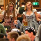 Stein way: A reveller in dirndl at the Munich festival. Photo: Sean Gallup/Getty Images