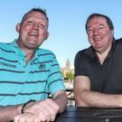 Doddie Weir, who has displayed an inexhaustible optimism since his diagnosis, with Neil Francis