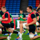 20 September 2019; Jonathan Sexton during the Ireland captain's run ahead of their opening Pool A game against Scotland at the International Stadium in Yokohama, Japan. Photo by Ramsey Cardy/Sportsfile