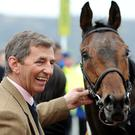JUMP: Ferdy Murphy in 2008, with Naiad du Misselot, after victory in the Coral Cup Handicap Hurdle at Cheltenham